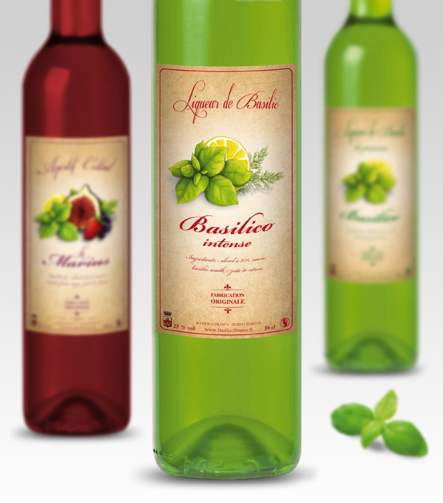 design étiquettes bouteille
