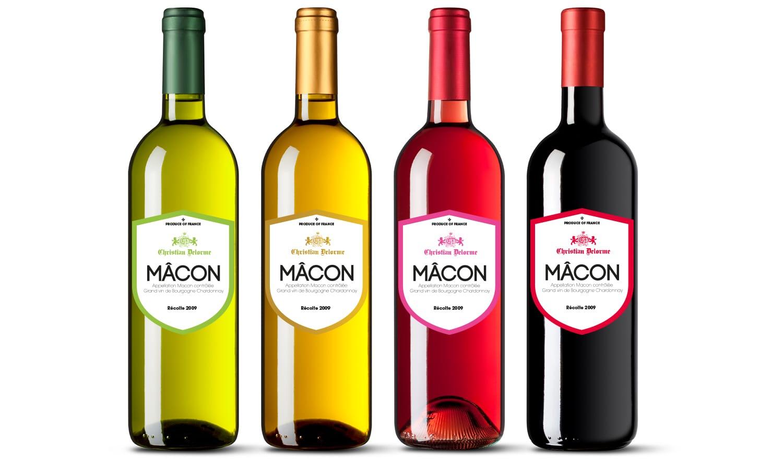 Création étiquette vin