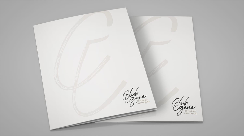design plaquette commerciale