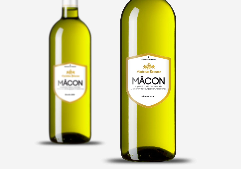 création étiquettes bouteille