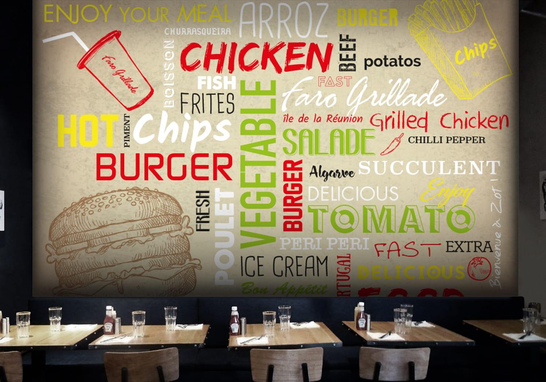 décoration mural restaurant