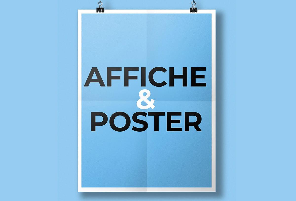création affiche