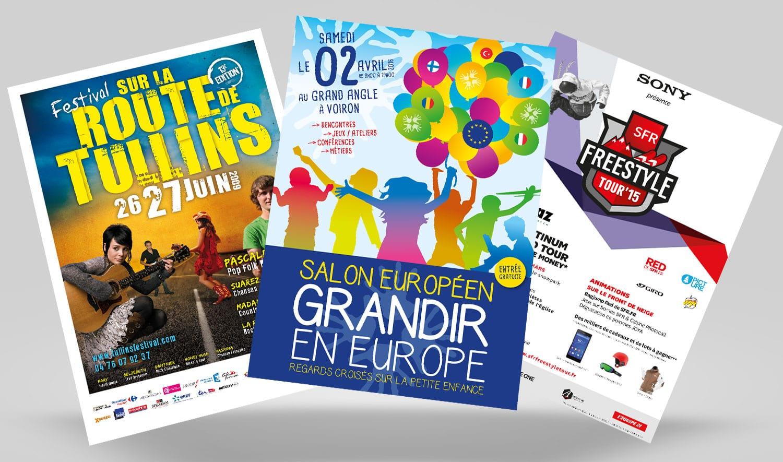 Création flyers Grenoble et Lyon