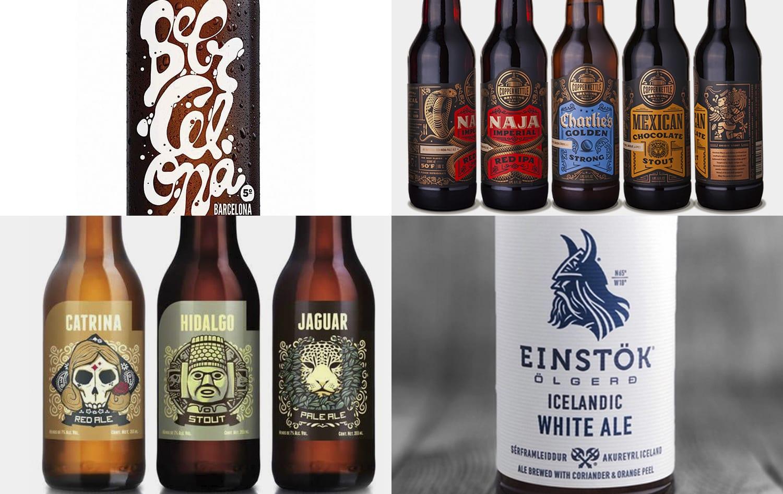 graphiste étiquette bière