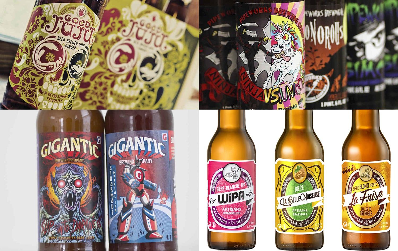 Design étiquette bière