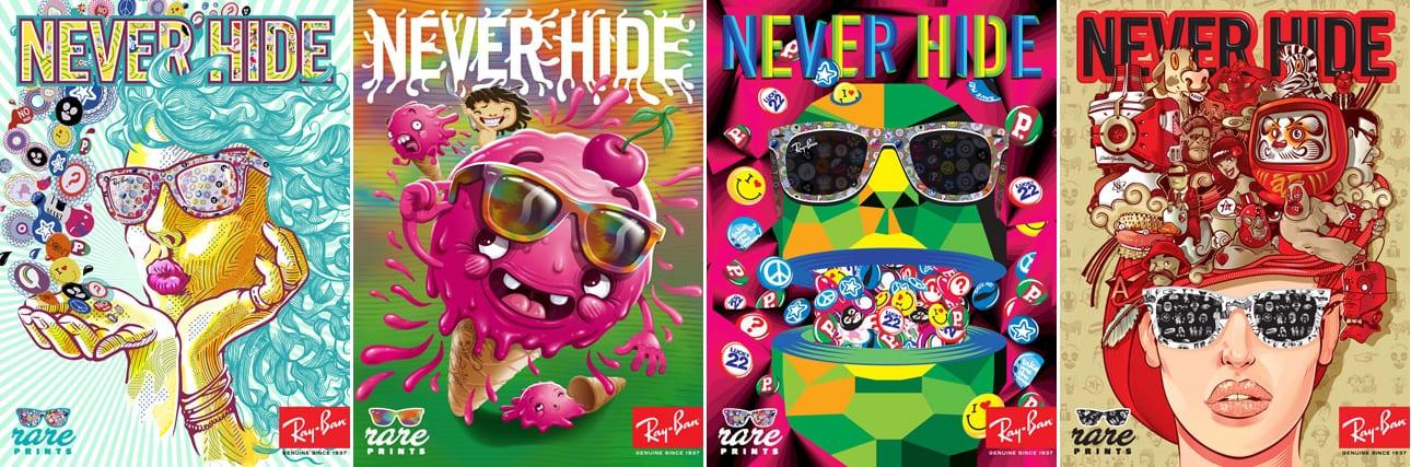 affiches colorées