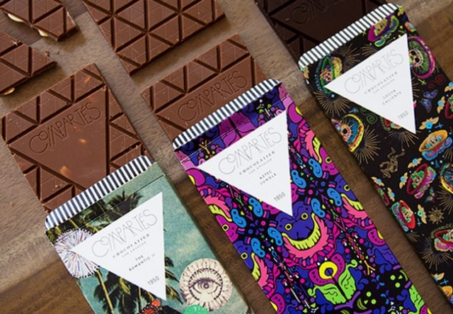 packaging chocolat comparté