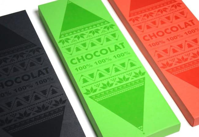 packaging chocolat couleur