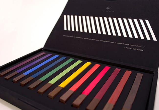 packaging chocolat crayon
