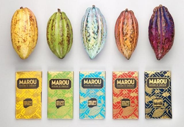 packaging chocolat marou