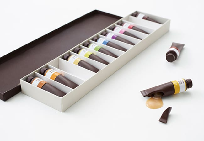 packaging chocolat peinture