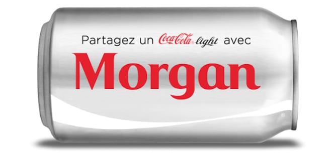 personnalisation canette coca