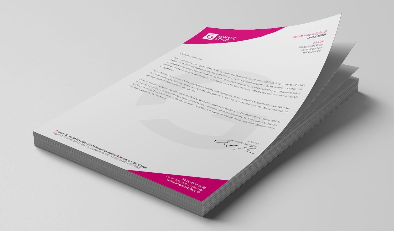Design papier en-tête